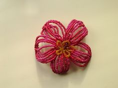 Nice bead flower