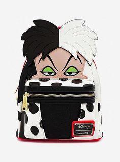 Loungefly Disney Cruella de Vil Mini Backpack Black Bags No Size Fashion and Fragrance for Everyone. Disney Handbags, Disney Purse, Faux Leather Backpack, Black Backpack, 101 Dalmatians Cruella, 101 Dalmations, Cute Mini Backpacks, Nice Backpacks, Stylish Backpacks