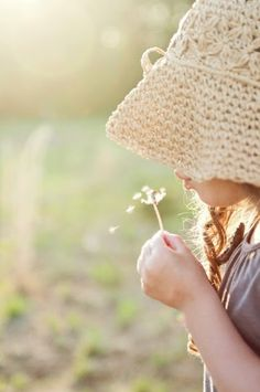A few of my favorite things: little girls, sun hats, dandelions, making wishes: with faith in His promises. GG