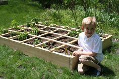 How to put together a square foot garden