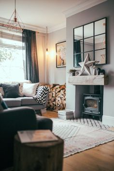 home interior ideas for living room black modern escape to the country in 2019 house pinterest 10 beautiful rooms mad about cosy decor mirrors