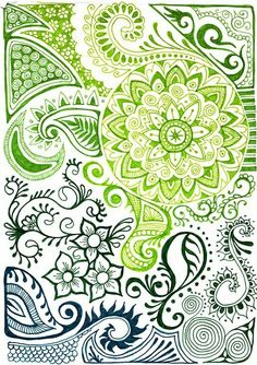 Beautiful zentangle print with indian henna designs by melanie doodle inspiration, tattoo inspiration, doodle Zentangle Drawings, Doodles Zentangles, Zentangle Patterns, Doodle Drawings, Henna Drawings, Zen Doodle, Doodle Art, Indian Henna Designs, Doodle Inspiration