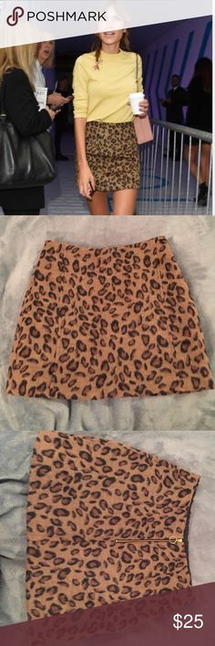 "Topshop furry cheetah print skirt Zipper in the back. Measures 14.5"" from top to bottom. Waist measures 12"" across Topshop Skirts Mini"