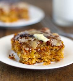 "When a recipe name ends in ""Snack Cake"" I'm interested. This one is a Mango Snack Cake from Pinch of Yum."