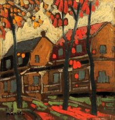 """FORTIN, Marc-Aurle """"Quebec street scene"""" Oil on board Signed on the lower left: M. Canadian Painters, Canadian Artists, City Painting, House Painting, Z Arts, Museum Of Fine Arts, Art Studies, Painting Inspiration, Canvas Art"""
