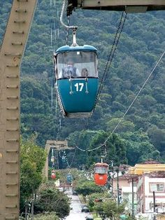 MINAS GERAIS (Southeast, capital Belo Horizonte) - Poços de Caldas - Cable car.