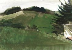 Andrew Wyeth, Spring at Kuerners 1998, watercolor on paper