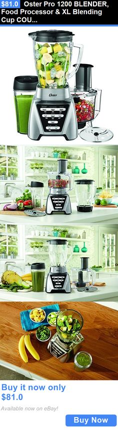 appliances: Oster Pro 1200 Blender, Food Processor And Xl Blending Cup Countertop Blender BUY IT NOW ONLY: $81.0
