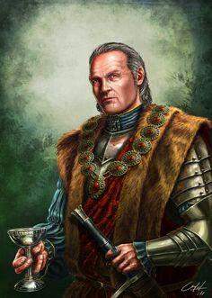 Feradach Mac Ayren, um homem orgulhoso, curioso e grosseiro, patriarca dos Mac Ayren, a casa nobre mais influente de Gwaren.