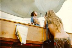 Joe Cocker perfoming at Woodstock Festival, 1969.