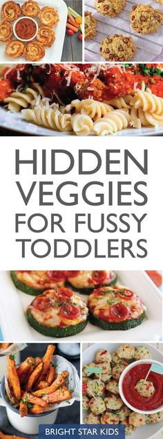 Hidden Veggies Recipes for fussy toddlers // kids dinner ideas