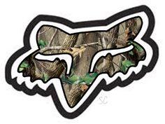 Camo mens Fox Racing Decals/Stickers