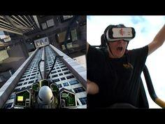 Dare Devil Dive Virtual Reality Roller Coaster POV New Revolution Six Flags Over Georgia - YouTube