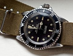 1972 Rolex Submariner (ref. 5512) So basically, what I hate about the Rolex isn't the watch. It's the standard band. Strap a Rolex to some vintage POS band and it instantly becomes wearable.