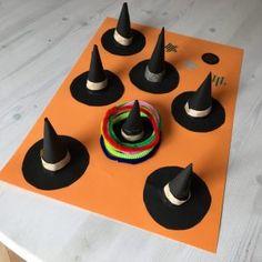 画用紙とモールで作るハロウィン輪投げの作り方♪子供と遊ぼうハロウィンDIY♪パーティーや英語レッスンの工作、ゲームアイデア♪