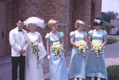 1968 - Lance & Linda's Wedding | The Bridesmaids: Pamela, my sister Mary Jo & Renee | alanwisniewski.com