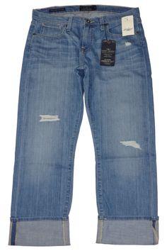 NEW Lucky Brand Womens Jeans SIENNA Tomboy Cropped Denim Stretch Blue Sz 24 $119 #LuckyBrand #Boyfriend