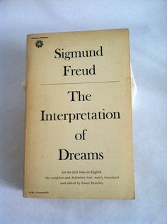 Vintage Book Sigmund Freud The Interpretation of Dreams by Sfuso, $12.00