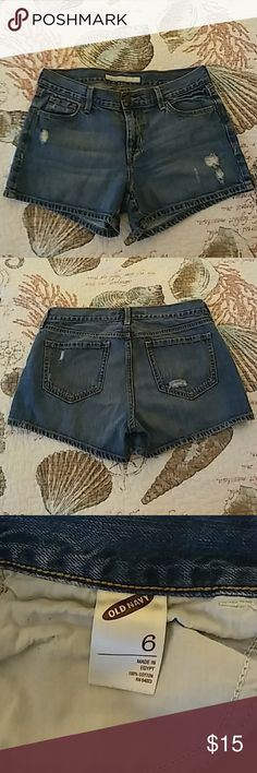 Jean shorts Distressed look medium blue Old Navy jean shorts. Old Navy Shorts Jean Shorts