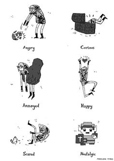 The moods of Link by Madeleine Flores, who is taking commissions for art to help pay for medical bills.