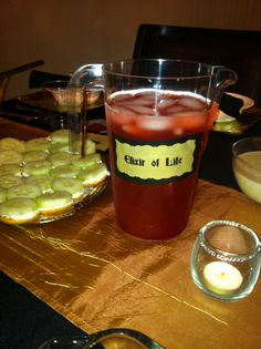 Elixir of Life was a hit at this party!!! They drank 2 gallons of it!! Little did they know it was only Hawaiian Fruit punch.