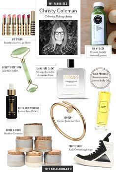 Read all of celeb makeup artist Christy Coleman's favorite things and find some new treasures for a luminous spring… | #BeautyOnTheBoard