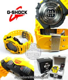 Casio G-Shock G-Shock Geel Frogman Titanium horloge Casio Frogman, G Shock Limited Edition, Casio G Shock, Outdoor Power Equipment, Japan, Watches, Digital, Wristwatches, Clocks