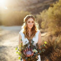 Do you recognize this stunning bride? If so, let us know who she is by sharing in the comments below!To book your bridal beauty trial now, contact us through the link in our bio. We can't wait to help you become the radiant bride of your dreams! Boho Wedding Hair Half Up, Boho Wedding Makeup, Bridal Makeup, Bridal Hair, Boho Hairstyles For Long Hair, Bohemian Hairstyles, Wedding Hairstyles, Braid Hairstyles, Braid Half Up Half Down