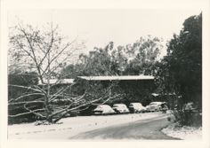 1949 snow in Ventura! Front of Pierpont Inn.