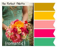 Looking for your wedding color palette? The Perfect Palette wants to help! The Perfect Palette is dedicated to helping you see the many ways you can use color to bring your wedding to life. Wedding Color Schemes, Wedding Colors, Wedding Styles, Colour Pallete, Color Combos, Color Palettes, Wedding Bouquets, Wedding Flowers, Color Inspiration