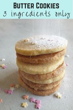 Easy four ingredient all butter cookies recipe, a simple vanilla biscuit made in a large batch from store cupboard ingredients. Baking Recipes, Cookie Recipes, Dessert Recipes, Desserts, Bar Recipes, Drink Recipes, Vanilla Biscuits, Yorkshire Pudding Recipes, Funny Cake