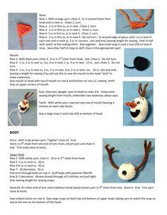 Best 12 Olaf by Sol – issuu – SkillOfKing. Crochet Olaf, Frozen Crochet, Crochet Box, Crochet Doll Pattern, Crochet Bunny, Crochet Toys Patterns, Stuffed Toys Patterns, Crochet Animals, Doll Patterns
