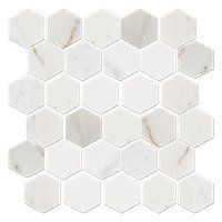 Royal White Polished Hex 2 x 2 in $14.99 Sq Ft      Coverage 9.93 Sq Ft per  Box