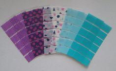 March Monthly Washi Stickers for Erin Condren Life Planner, Plum Paper Planner, purple pattern washi, pattern washi, turquoise washi