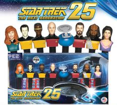 That's the Star Trek: The Next Generation crew as Pez dispensers, then.