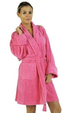 b184fbcb1f Solid Zero Twist Terry Loop Women`s Bathrobe