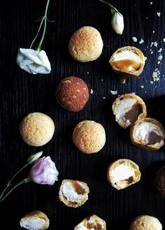 burnt honey creme whipped cream cheese sable a choux recipe