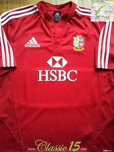 Relive the British & Irish Lions 2009 tour to South Africa with this vintage Adidas home rugby shirt.