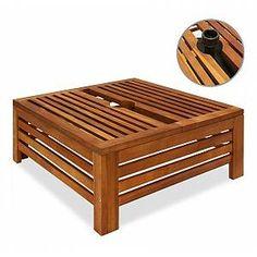 Support Parasol, Acacia, Parasols, Outdoor Furniture, Outdoor Decor, Outdoor Storage, Ottoman, Patio, Accessories