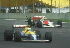 Patrese , Senna Mexico 1990