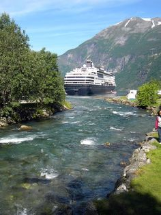 Maasdam at Anchor in Geiranger, Norway