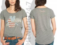"LUCKY BRAND WOMEN'S FENDER ""AMERICANA"" GRAPHIC TEE SMALL MSRP $39.50 #LuckyBrand #GraphicTee"