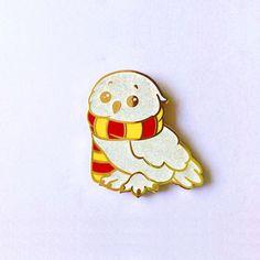 Hedwig Hard Enamel Pin by PEPZART on Etsy