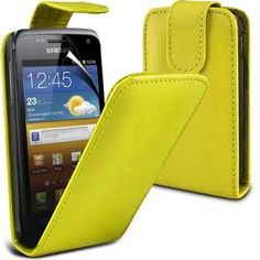 Buy Samsung Galaxy W i8150 Leather Flip Case Cover (Yellow) Plus Free Gift, Screen Protector and a Stylus Pen, Order Now Best Valued Phone Case on Amazon! By FinestPhoneCases NEW for 10.99 USD | Reusell
