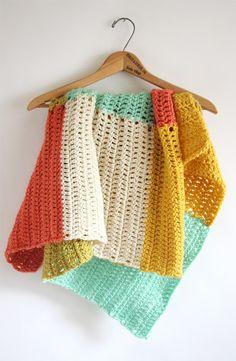 Crochet summer throw