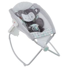 Your little monkey can drift off to dreamland in serene comfort with the soothing, hands-free rocking, calming vibrations, and soft, gentle music of this Deluxe Auto Rock 'n Play sleeper. With 12 soothing songs and sounds, a plush and supportive Sweet Surroundings Monkey seat pad, and two hands-free rocking settings for naptime or nighttime, this is the ultimate sweet dream machine. And its lightweight frame folds easily for storage or take along! Where development comes into play Sensory...