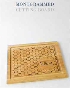 monogrammed cutting...
