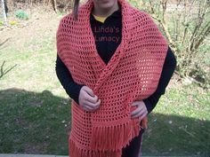Crocheted Prayer Shawl - with directions!