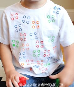 DIY Lego Shirt. Fun kid activity idea - FSPDT