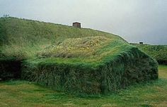 Living grass roof and walls